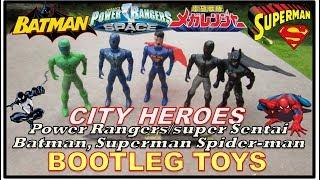 Power Rangers in Space/Super Sentai, Batman, Spider-man & Superman Bootleg Toys | CITY HEROES