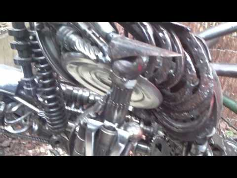 Alien From the Movie Made Of Car Parts