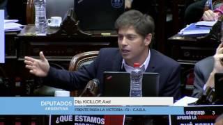 """22/03/17 - Kicillof a Marcos Peña: """"La realidad está en la calle, no en los trolls"""""""