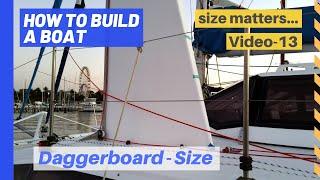 Dagger board: Size matters  - the importance of a catamaran's daggerboard