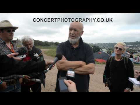 MICHAEL EAVIS PRESS CONFERENCE , GLASTONBURY FESTIVAL 2013