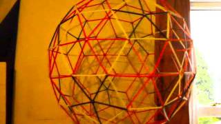 Geodesic Sphere Made From Drinking Straws N Pins