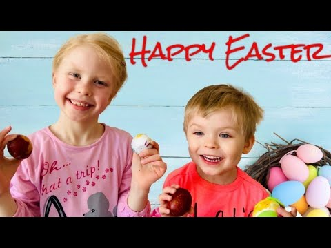🐇🥚🐣-coloring-easter-eggs-with-adriana-markus-and-mommy-|-dye,-colour-egg-with-onion-skins-🐇🐣🥚