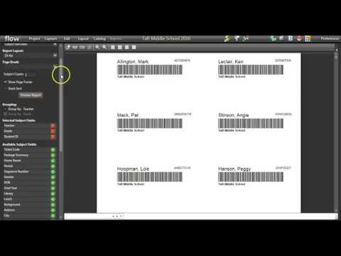 FLOW   Creating Barcodes