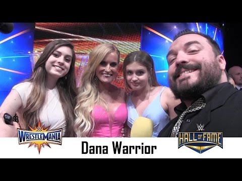 Dana Warrior Interview   Wrestlemania 33 Hall of Fame Ceremony