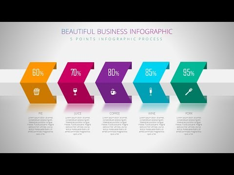 5 Steps Infographic Presentation Slide Design In Microsoft Office PowerPoint