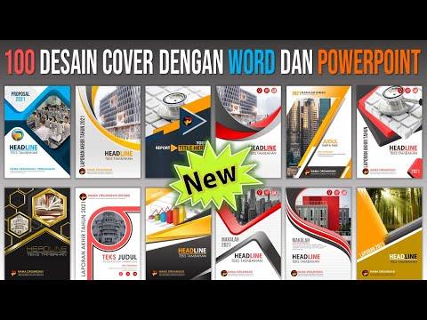 100 Contoh Desain Cover yang Dibuat di Word dan PowerPoint