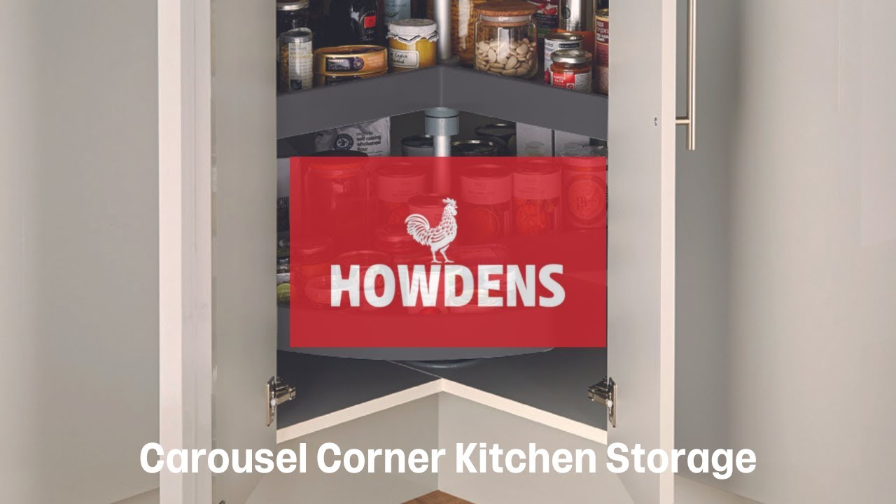 Kitchen Cabinet Carousel Corner Standard Corner Carousel From Howdens Joinery Youtube