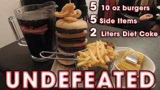 Blackpool's Undefeated Challenge 10 Burgers & 2 Liters Of Diet Coke!!