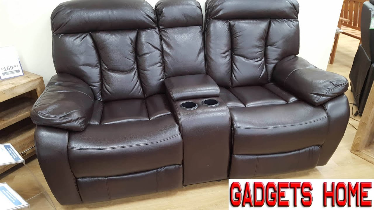 Awesome Reclining Console Sofa Chairs Youtube