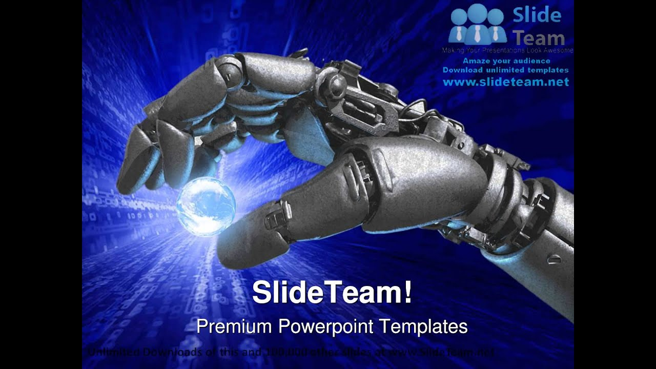 Robot hand and earth globe powerpoint templates themes and robot hand and earth globe powerpoint templates themes and backgrounds ppt themes toneelgroepblik Images