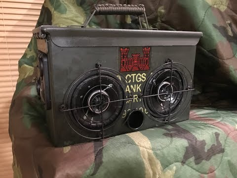 Ammo Can BlueTooth Speaker Build