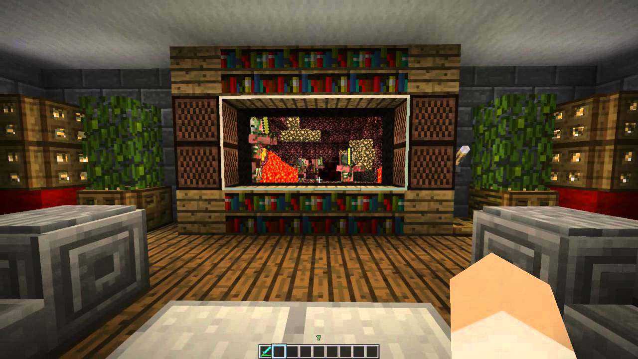 3d tv in minecraft youtube - How to make a nice living room in minecraft ...