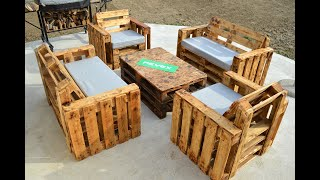 Homemade GARDEN FURNITURE From PALLET !?