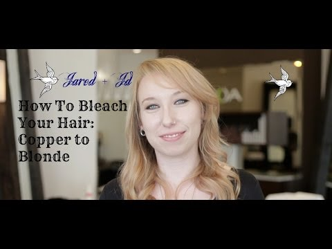 how to bleach your hair from copper to blonde youtube