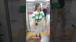 武蔵境駅のトレインビアガーデン  イベントでのじゃんけん大会.