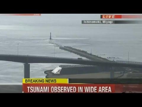 Tsunami Hits Miyagi Japan 2016 - Earthquake Fukushima Japan 2016 Footage
