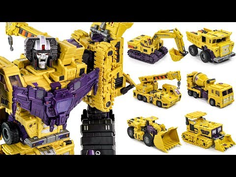 Transformers ToyWorld Hercules G2 DevaStator Construction Site Vehicles Transformation