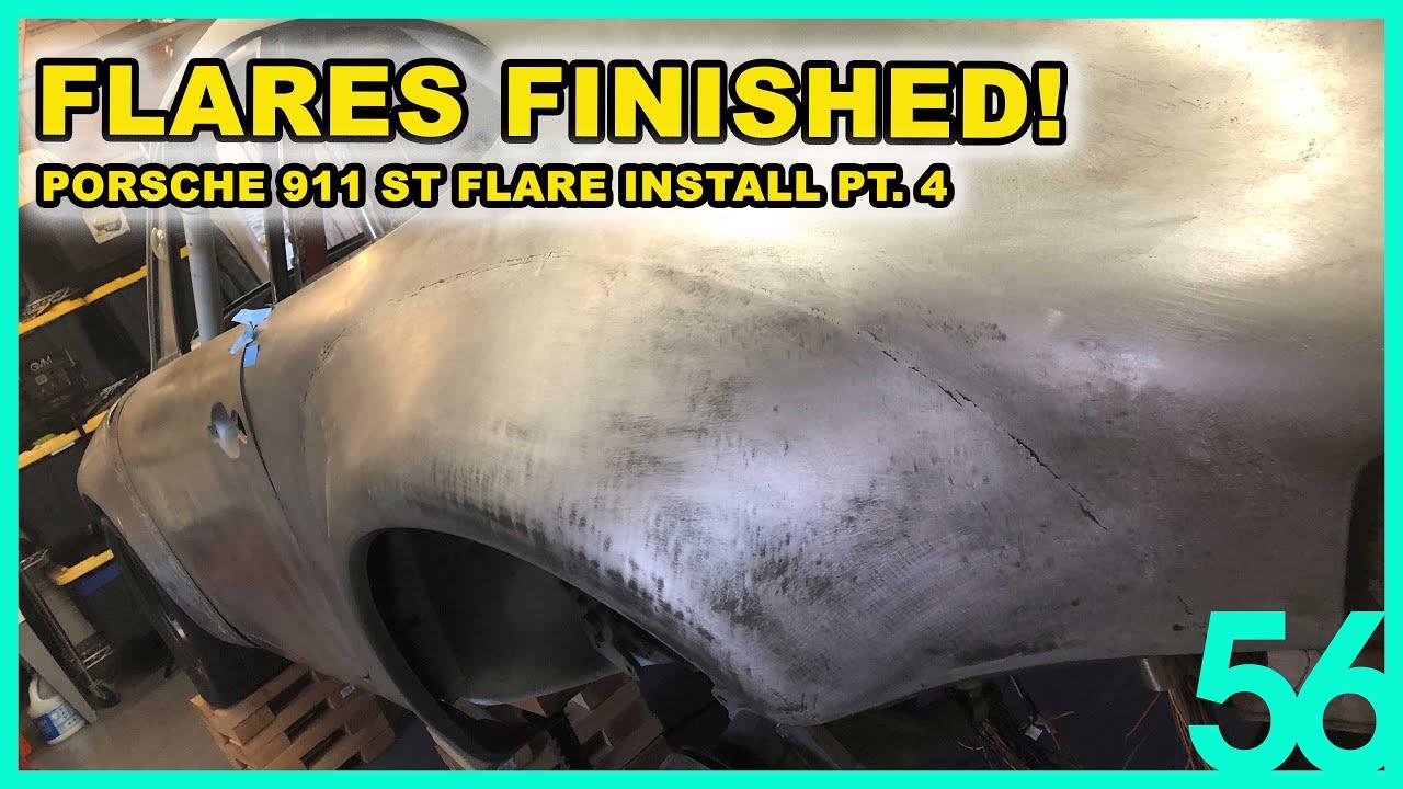 Vintage Porsche 911 ST Flares INSTALLED! | Subaru EZ30 Turbo Porsche Engine Swap Blasphemy Build 56