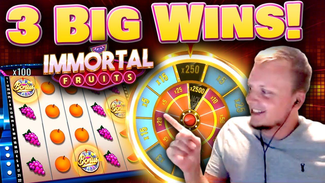Big Wins on new Slot Immortal Fruits!