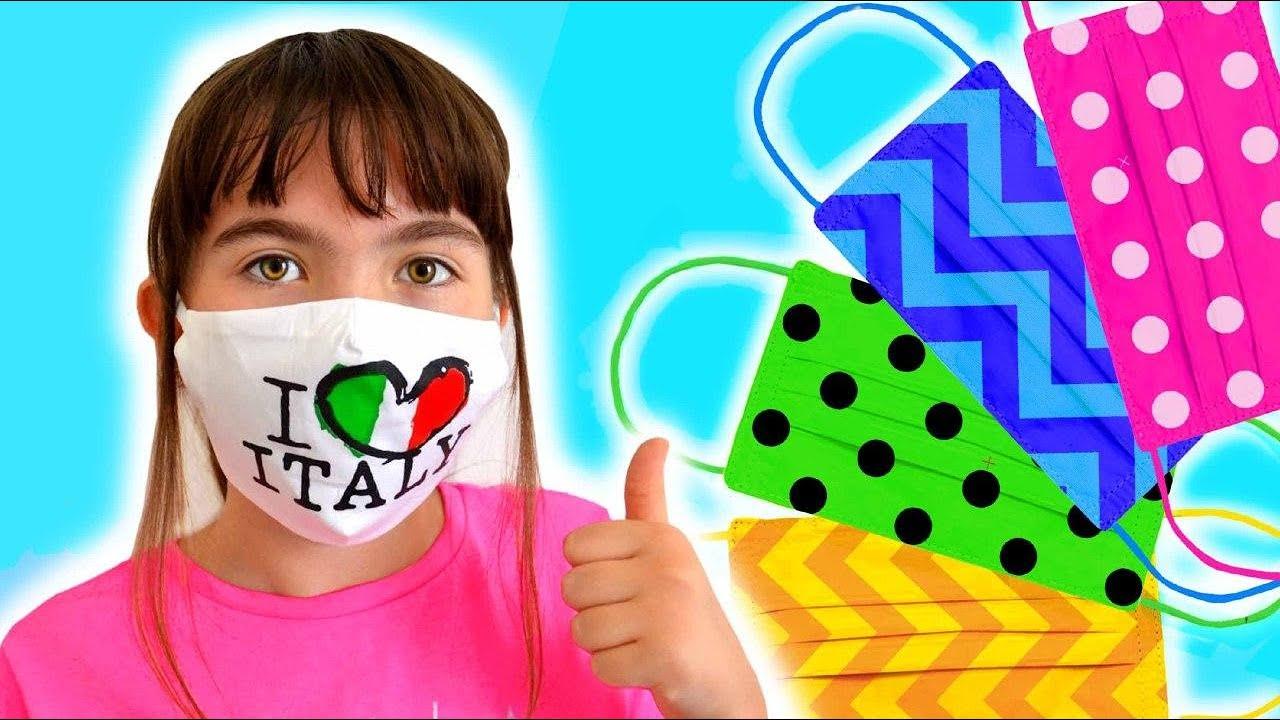 Canzone prendi la tua mascherina con i bambini di tutto il mondo