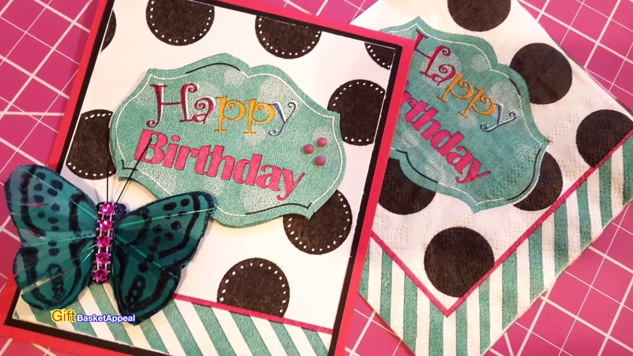 FROM PAPER NAPKIN to BIRTHDAY CARD