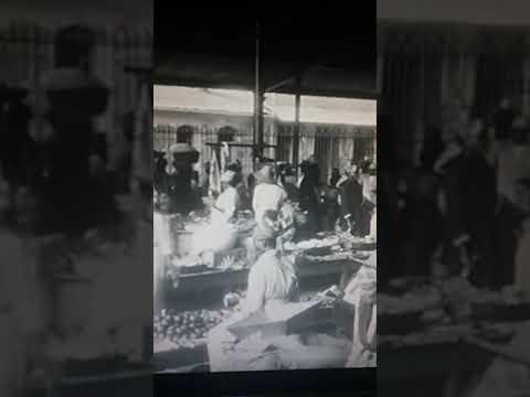 Marché aux légumes de Fort de France, Martinique, filmé en 1902 par un caméraman des frères Lumière.