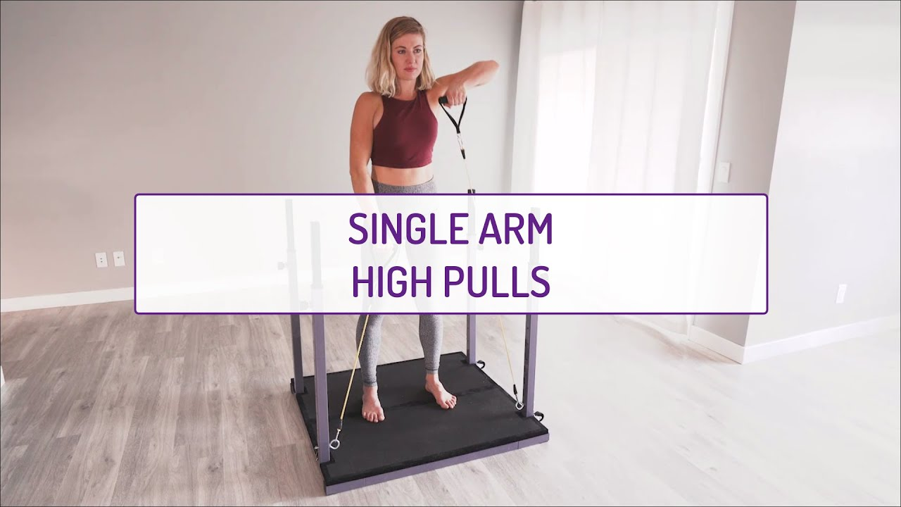Home Exercises | Single Arm High Pulls | Strength & Balance | Shoulders