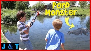 Hunting The Pond Monster / Jake and Ty