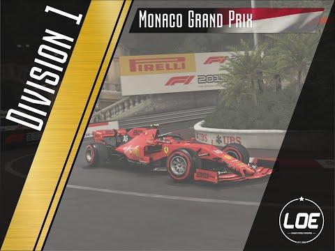 League of Europe | F1 2019 | Division 1 | Round 8 | Monaco