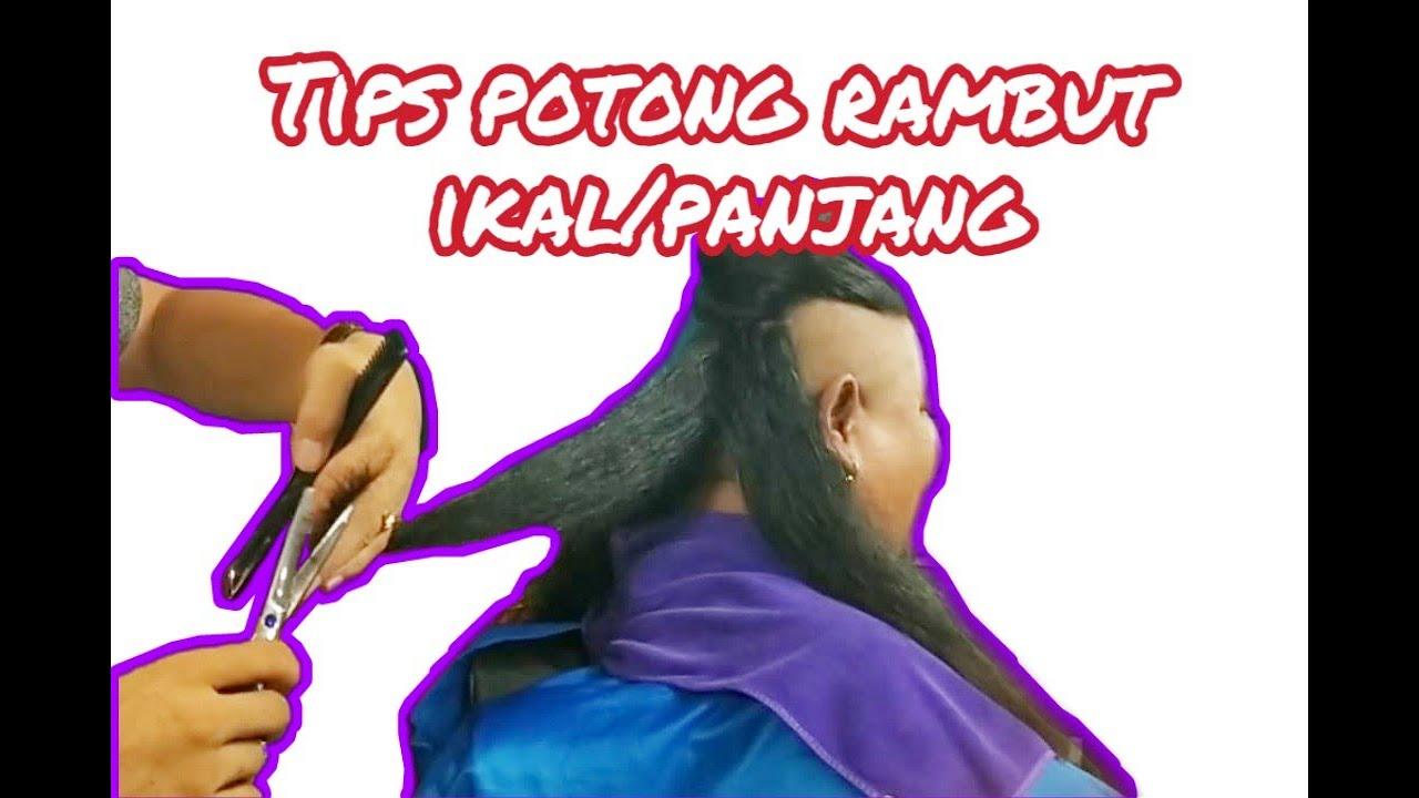 Potong Rambut V Panjang