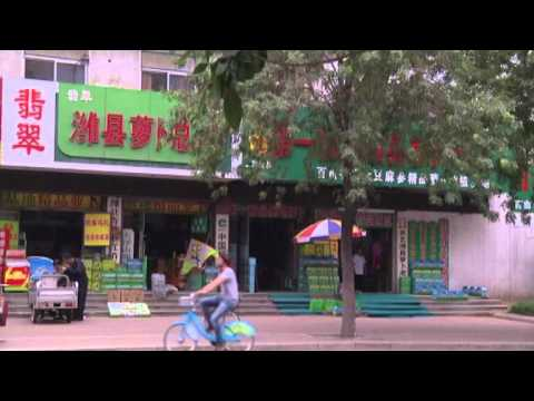 A foreigner in Weifang City, China
