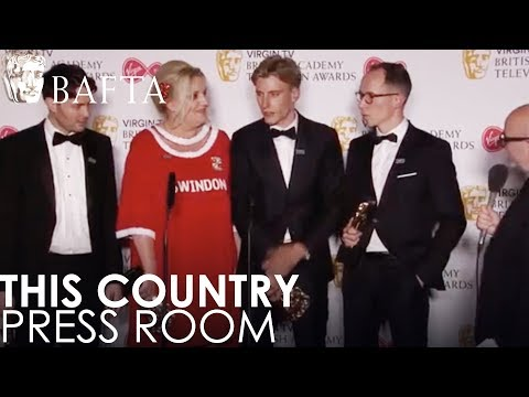 Scripted Comedy Winners This Country in the Press Room | BAFTA TV Awards 2018