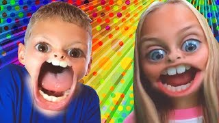 Hungry Hippos Compilation | Minute to Win It Games |  Learn Colors | WigglePop