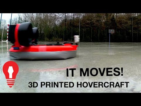 MAKING A 3D PRINTED HOVERCRAFT #5 - IT MOVES!