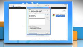 How to Manage Pop-up Blocker Settings in Internet Explorer® 10 on Windows® 8 PC