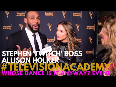 Allison Holker & Stephen 'tWitch' Boss interview at Television Academy's Choreographer Celebration