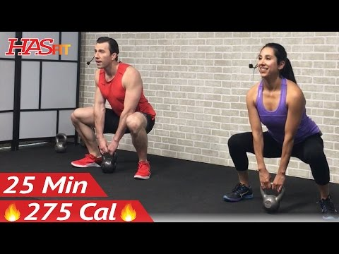 25 Min Beginner Kettlebell Workout for Fat Loss – Kettlebell Workouts for Beginners Men & Women