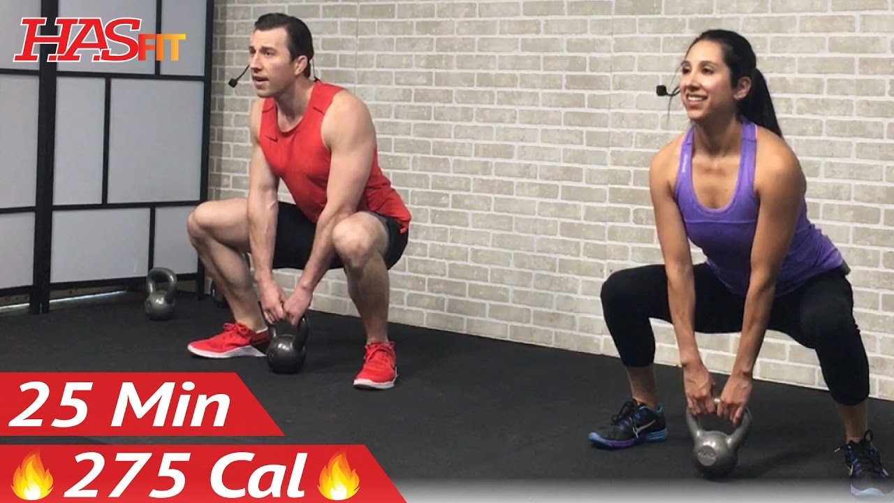 25 Min Beginner Kettlebell Workout For Fat Loss