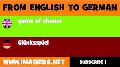 DEUTSCH   ENGLISCH  = Glücksspiel