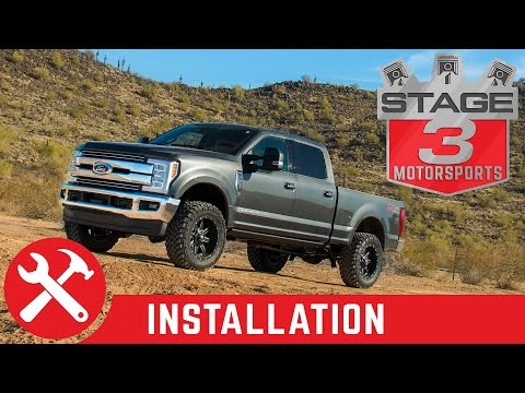 "2017 F250 & F350 Super Duty 4WD BDS 2"" Leveling Kit with Shocks Install"