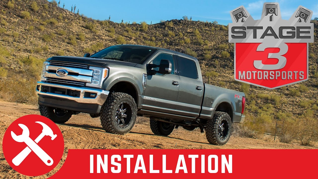 small resolution of 2017 f250 f350 super duty 4wd bds 2 leveling kit with shocks install youtube