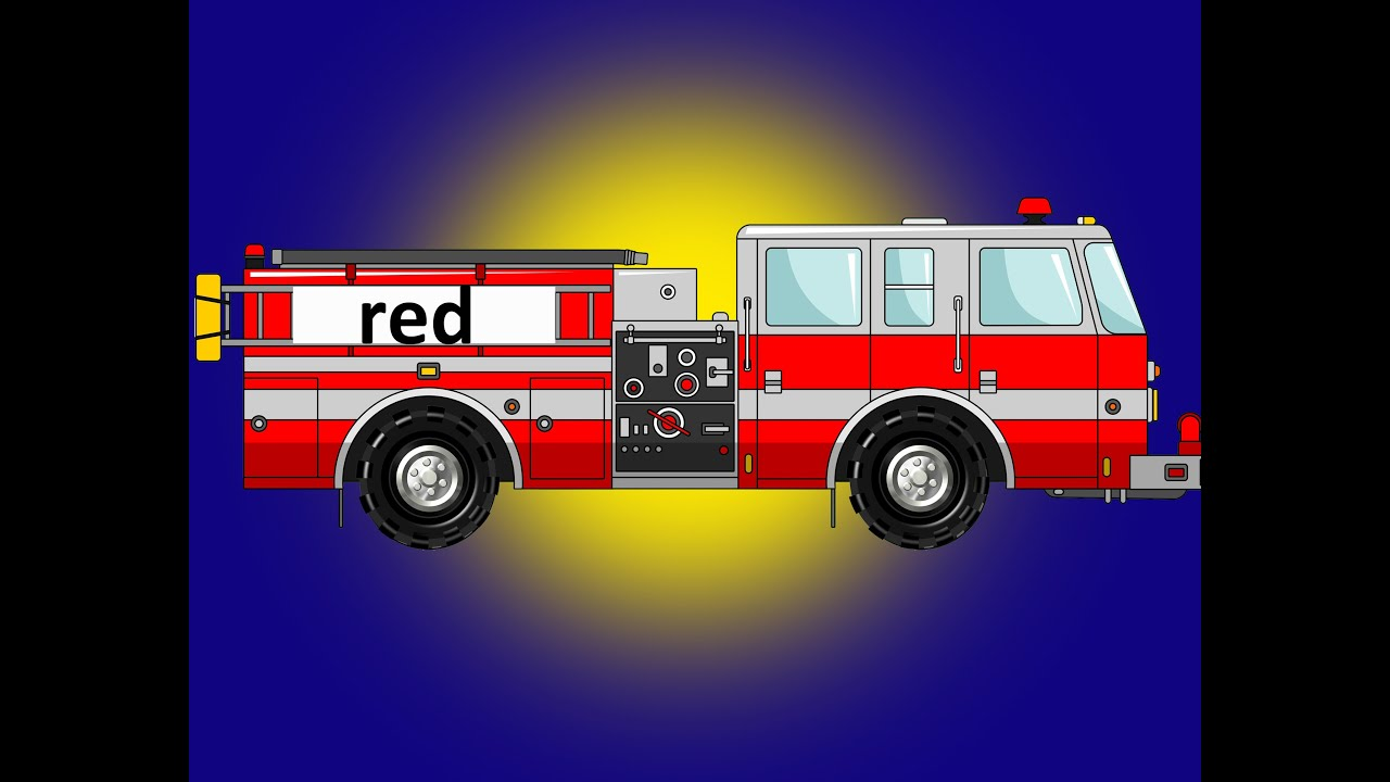 Color Fire Truck Learning - YouTube