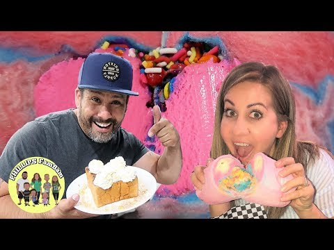 KIDS TRY THE MOST AMAZING COTTON CANDY BURRITO and CINNAMON TOAST DESSERTS in LAS VEGAS
