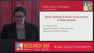 Christina Svec   Music Aptitude & Music Achievement  A Meta analysis