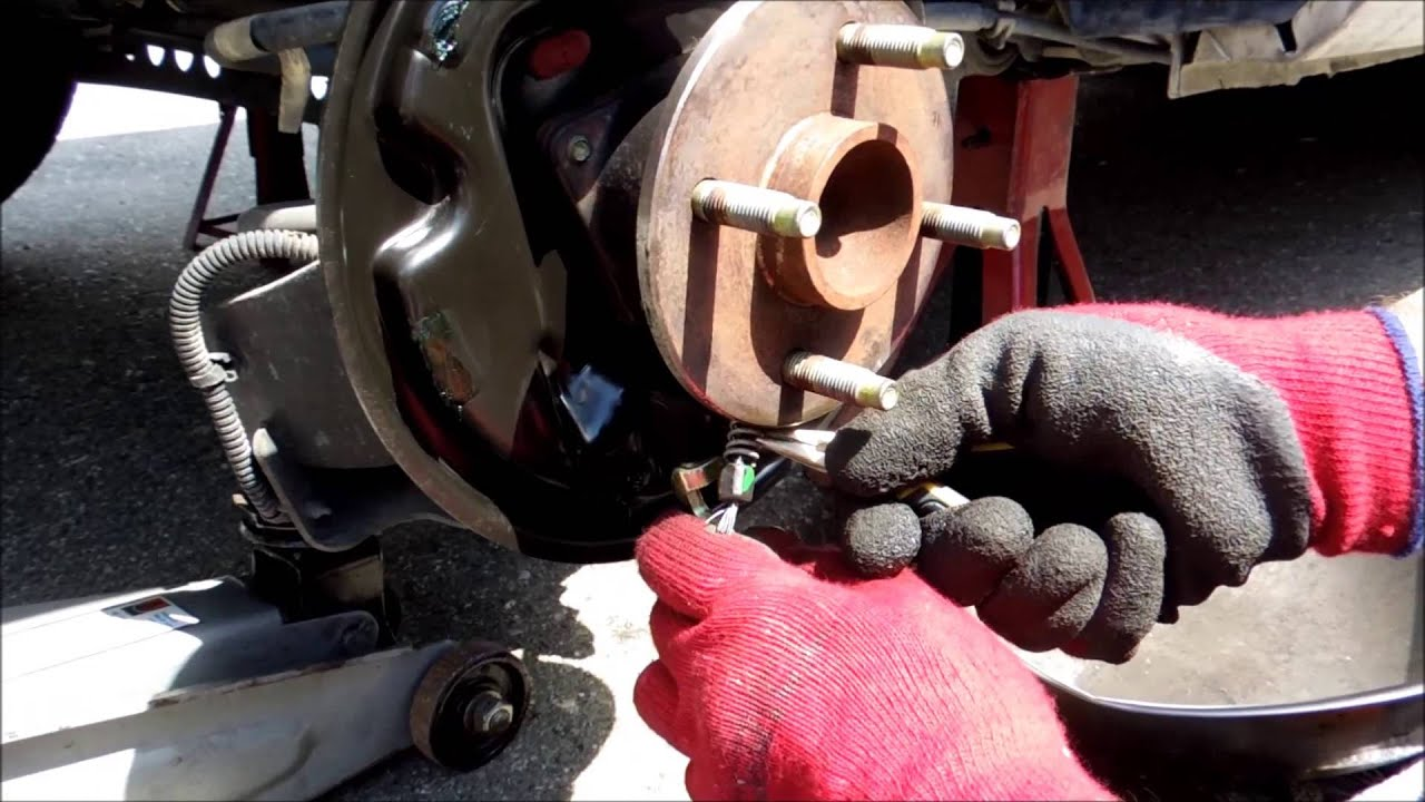 How to change rear drum brake and front caliper brakes on ...