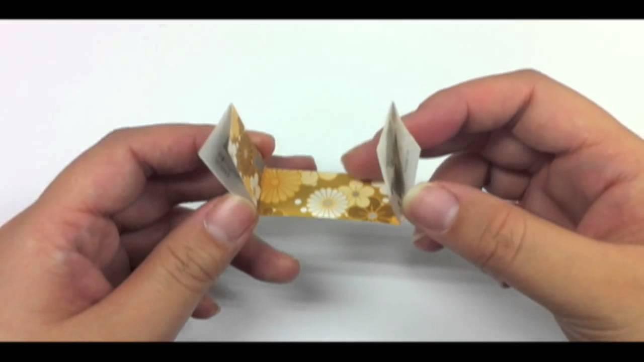 すべての折り紙 折り紙お年玉袋折り方 : 折り紙[千代] 箸置きの折り ...