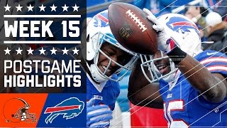 Browns vs. Bills | NFL Week 15 Game Highlights