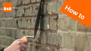 How to repoint a wall
