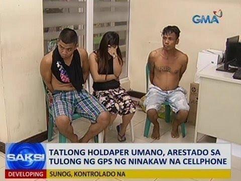 Saksi: 3 holdaper umano, arestado sa tulong ng GPS ng ninakaw na cellphone